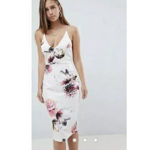 Missguided Dresses - Misguided Floral Midi Dress NWOT